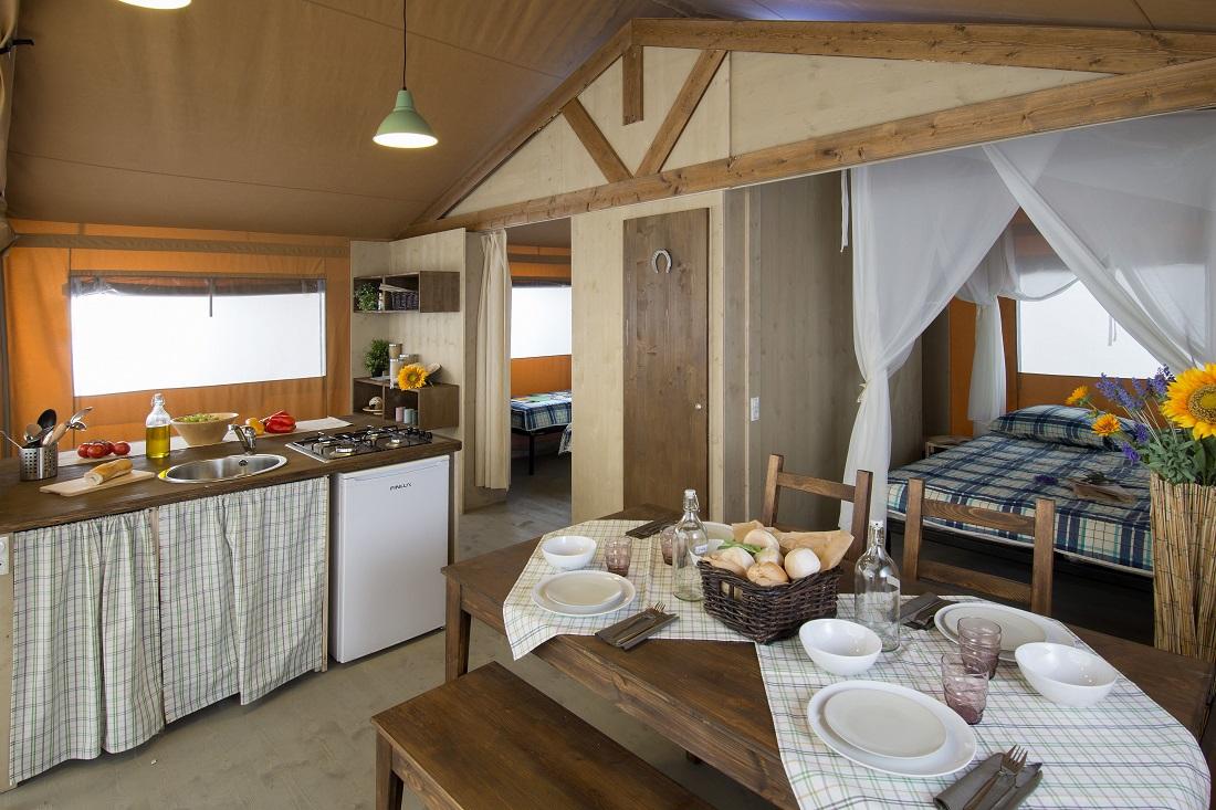 Soggiorno tenda glamping Country Lodge - Maremma Sans Souci