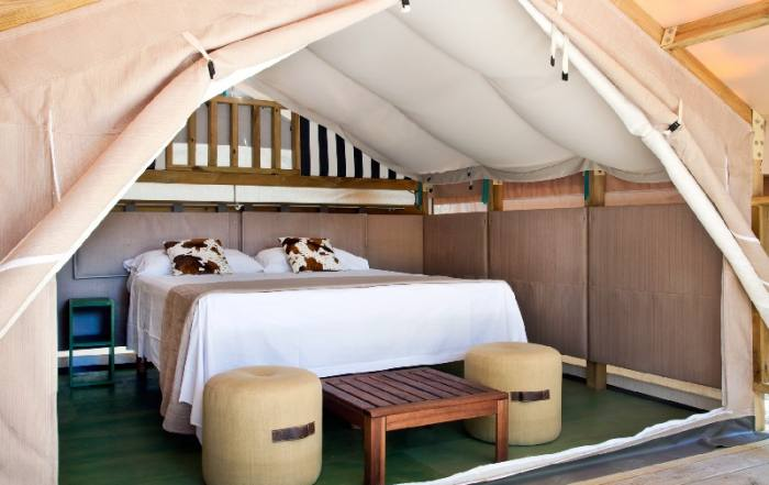 Interno Mini Lodge Tent - Camping Maremma Sans Souci