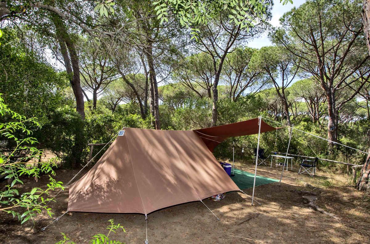 Camping dans le vert de la Maremme