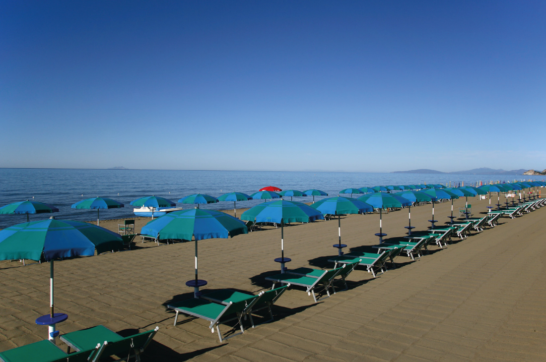 Camping on the seaside of Maremma